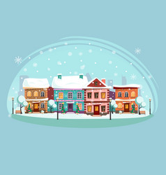landscape of the city decorated for a happy vector image
