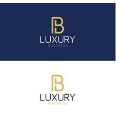 luxury logo b modern style vector image