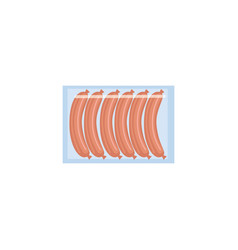 meat sausage package isolated on white background vector image