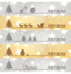 Merry christmas business banners snow and stars vector