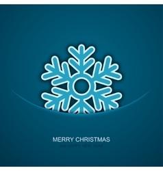 modern christmas snowflakes on blue vector image