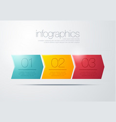 modern three step arrow infographic vector image