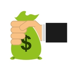 money bag economy icon vector image