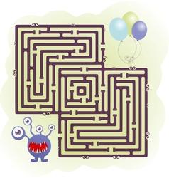 Monster maze vector