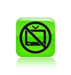 No tv icon vector