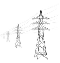 Overhead power line a number of electro-eaves vector