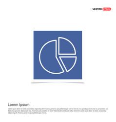 Pie chart diagram icon - blue photo frame vector