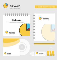 pie chart logo calendar template cd cover diary vector image