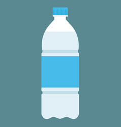 plastic bottle of fresh water icon vector image