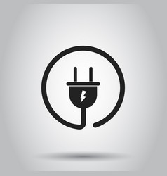 plug socket icon on isolated background business vector image