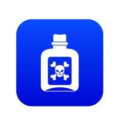 Poison icon digital blue vector