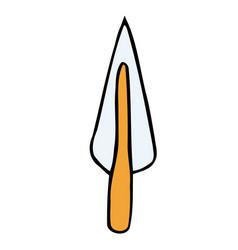 retro cartoon spear vector image