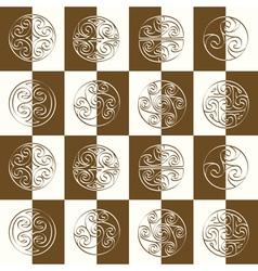 Seamless pattern with irish geometric ornament vector image