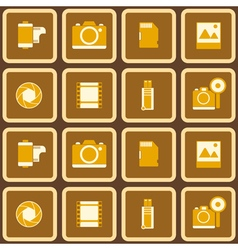 Seamless pattern with photo equipment vector image