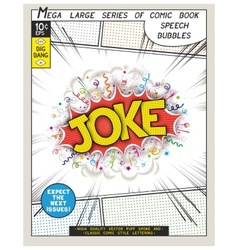 Series comics speech bubble vector