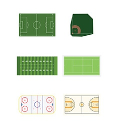 Six sports fields vector