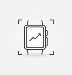 smart watch outline icon smartwatch symbol vector image