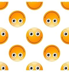 smile emoji seamless vector image