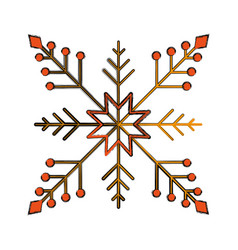 Snowflake christmas decoration icon vector