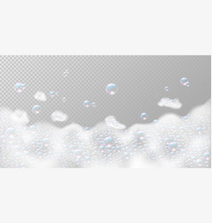 Soap foam with bubbles vector