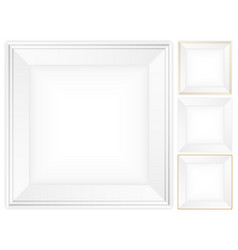 Square plate set vector