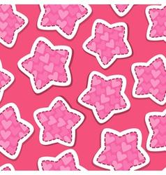 stars pink 380 vector image
