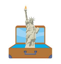 statue liberty in new york design vector image