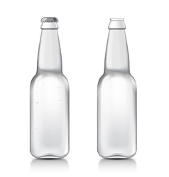 Transparent realistic bottle vector image