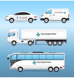Transport Advertisement Set vector image