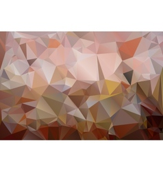 Triangles background in shades of brown color vector