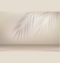 tropical palm leaves shadow effect vector image