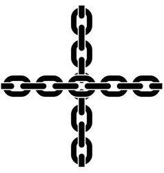 two crossed chains vector image