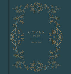 Vintage book cover vector