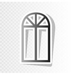 Window simple sign new year blackish icon vector