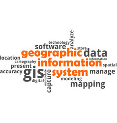 Word cloud - geographic information system vector