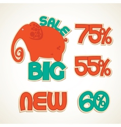 Badges big discounts vector