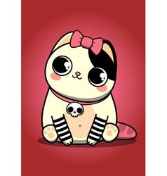 Emo kitten vector image vector image