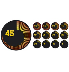 timers icons - clock set vector image