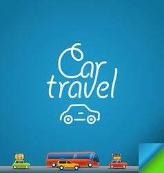 Car travel concept Design template vector image vector image