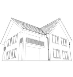 cottage on the white background vector image vector image