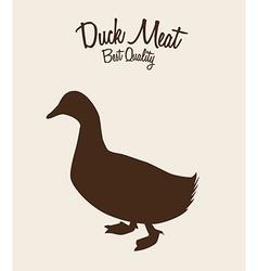 Duck meat vector
