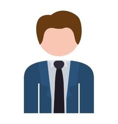 Half body man formal suit blue vector