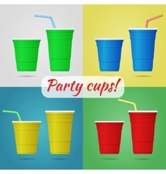 Plastic party cups vector