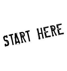 Start here rubber stamp vector