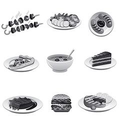 food icon set gray vector image