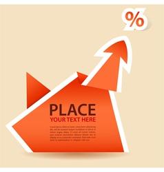 paper origami arrow element vector image vector image