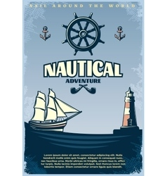 Retro Nautical Poster vector image vector image
