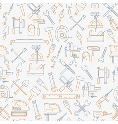 Seamless line pattern with working tools for vector