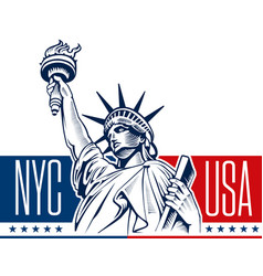 statue of liberty nyc usa symbol vector image
