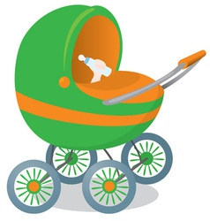child in a stroller vector image